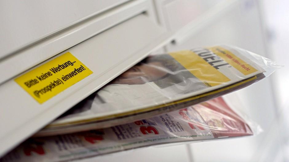 """Der """"Bitte keine Werbung""""-Sticker hilft oft nicht."""