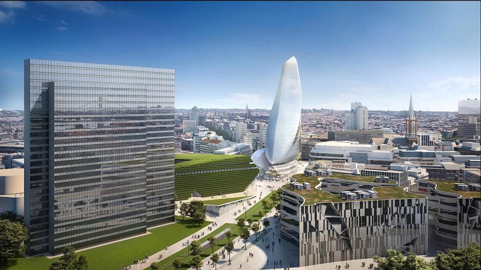 Wer ein Spektakel bestellt, bekommt es auch: In der Düsseldorfer Innenstadt soll ein Hochhaus mit mehr als hundert Meter Höhe entstehen