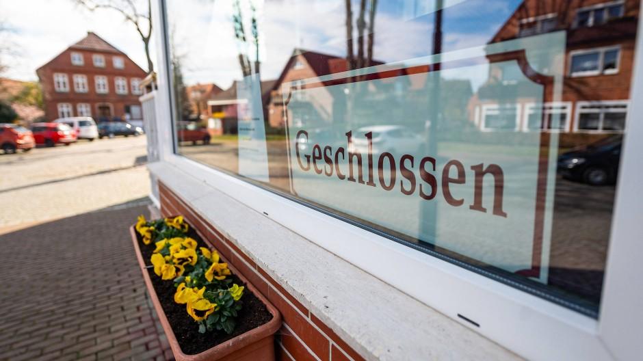 Ein geschlossenes Restaurant in der niedersächsischen Stadt Hitzacker.