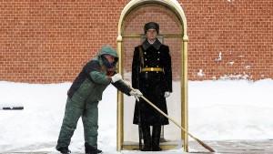 Moskau steuert auf Schneerekord zu