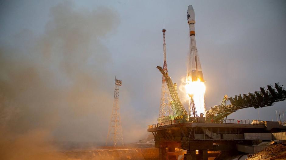 Start des Arktika-M-Satelliten vom Weltraumbahnhof Roscosmos in Kasachstan