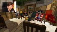 Paluten und die Avatare: Szene aus dem Livestream des Computerspiels Minecraft