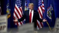 Trump und Clinton siegen bei Vorwahl in New York