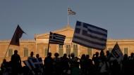 Die Griechen feiern das Oxi