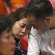 Bange Stunden für die Angehörigen am Flughafen von Singapur.