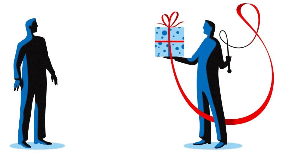 Eine Abfindung kommt als Geschenk daher, die Peitsche dahinter ist oft nicht leicht zu sehen.