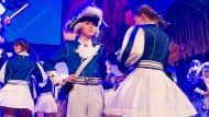 """Lars Nordmann beim Tanz seiner Garde bei der GALA-Sitzung der Kölner Funken Artillerie blau weiss von 1870 e.V. Der Zwölfjährige tanzt seit zwei Jahren beim Karnevalsverein """"Blaue Funken"""" im Nachwuchs Chor."""