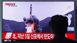 Nordkorea scheitert mit neuem Raketentest