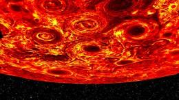 Sturm-Karussell auf dem Jupiter