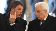 Ministerpräsident Matteo Renzi (l.) und Staatspräsident Sergio Mattarella