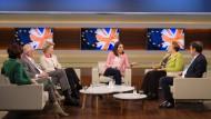 """Anne Will diskutiert mit Gästen in ihrer Sendung vom 7. April 2019 zur Frage: """"Wie lange denn noch? Das Ringen um den Brexit"""""""