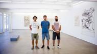 Drei Freunde: David Bausch, Ruben Fischer und Yacin Boudalfa (v. li.) sind das Künstlerkollektiv YRD.Works