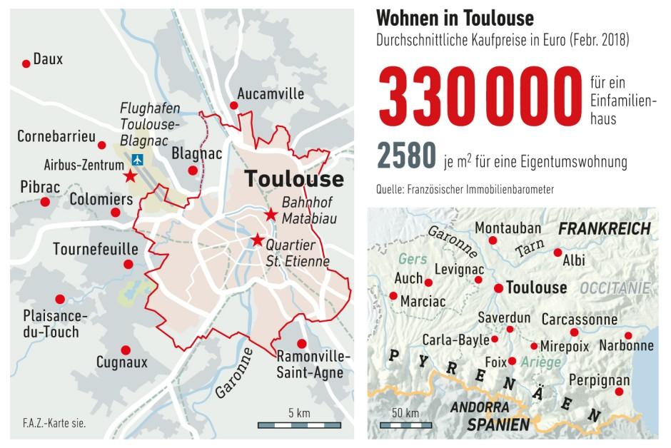 Toulouse Karte.Bilderstrecke Zu Wohnen In Toulouse Sturmerprobt Unter