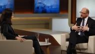 Anne Will im Gespräch mit Martin Schulz