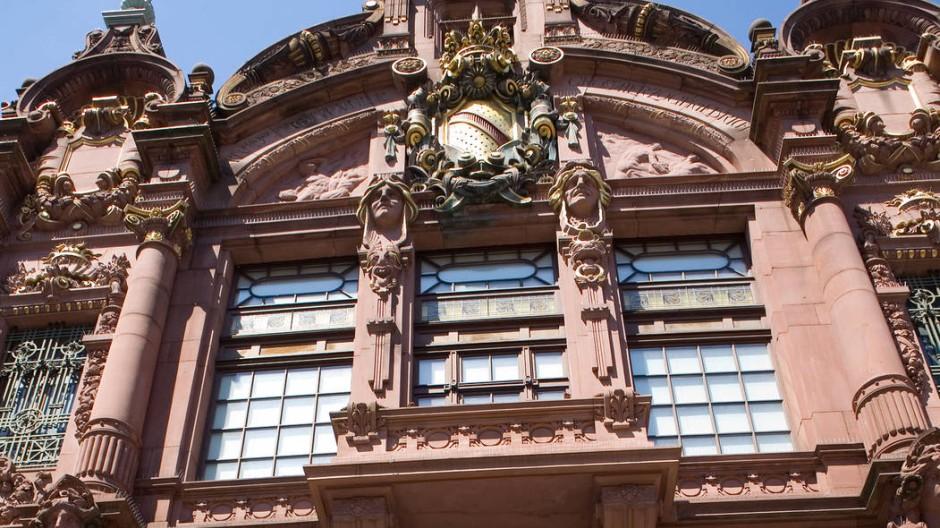 Das Eingangsportal der Heidelberger Universitätsbibliothek