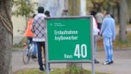 Immer mehr Asylbewerber verlassen Deutschland freiwillig. Hier die Erstaufnahmeeinrichtung für Asylbewerber auf dem Gelände der Bayernkaserne in München.