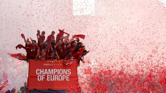 So feierte Liverpool den Champions-League-Sieg