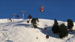 Skifahrer aus Seilbahn gerettet