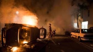 Schwere Unruhen in Nantes