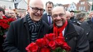 Stehen die Rosenkavaliere bald mit leeren Händen da? Martin Schulz (rechts) und Torsten Albig