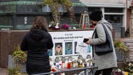 Grimm-Denkmal in Hanau ohne Bilder von Anschlagsopfern
