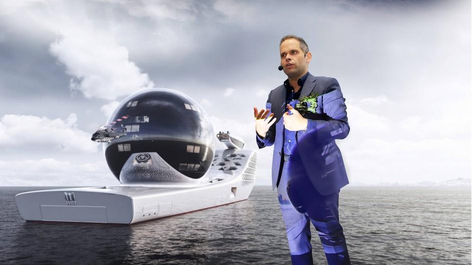 Schiff ahoi! Aaron Olivera nimmt sich der Rettung der Welt an.
