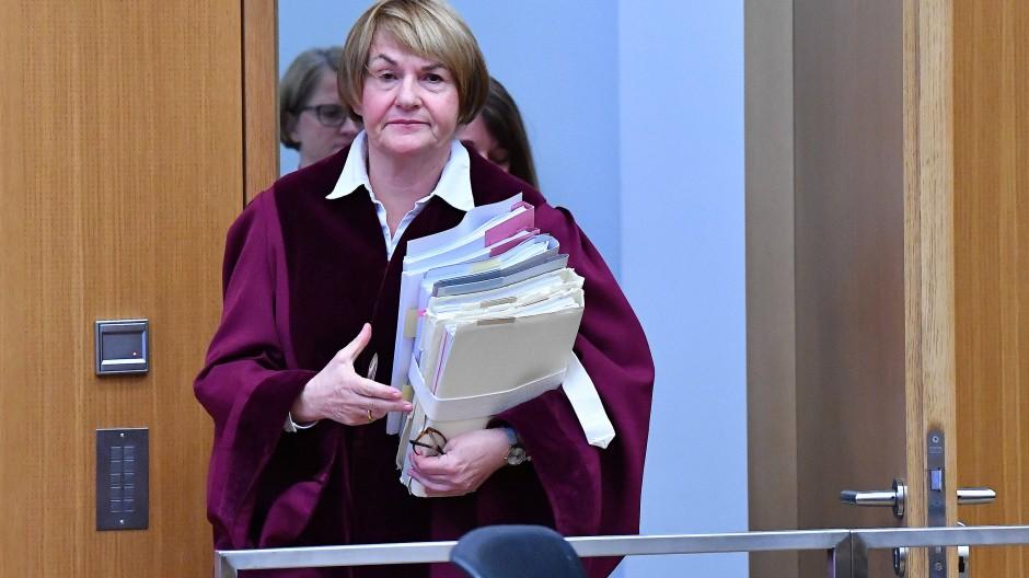 Bundesarbeitsgerichtspräsidentin Ingrid Schmidt zu Beginn einer Verhandlung am 20. November 2018.