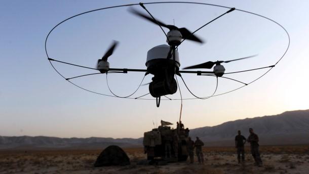 Aufklärungsdrohne beim Einsatz in Afghanistan