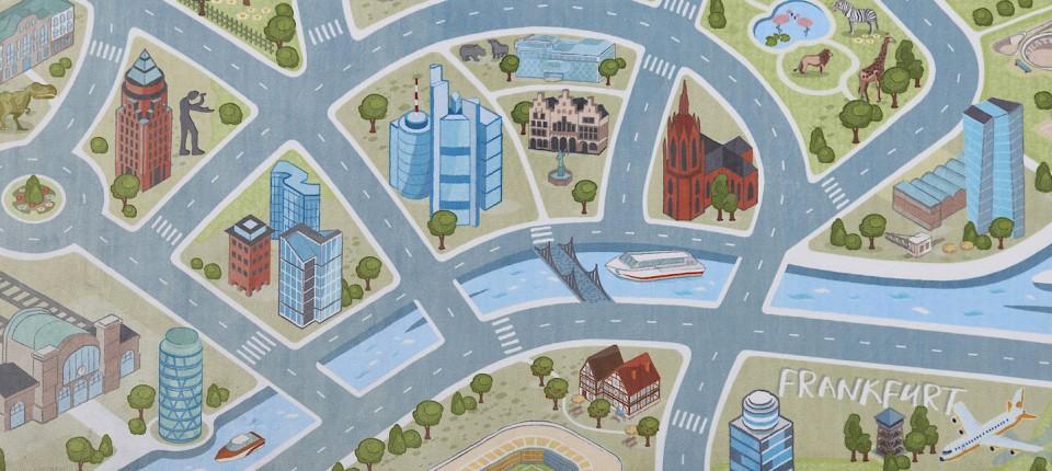 b9d3ec895c49a2 Sylvia Allwinn hat Städte-Spielteppiche entworfen.