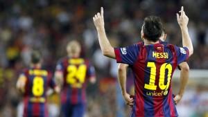Mit zwei Messi-Toren an die Spitze