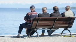 Die teure Last mit alten Männern