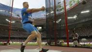 Im Londoner Kreisverkehr: Hammerwerfer Sergej Litwinow ist einer von 19 Russen, die bei der WM als neutrale Athleten starten dürfen.
