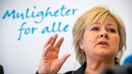Will die Vermögenssteuer senken: Erna Solberg