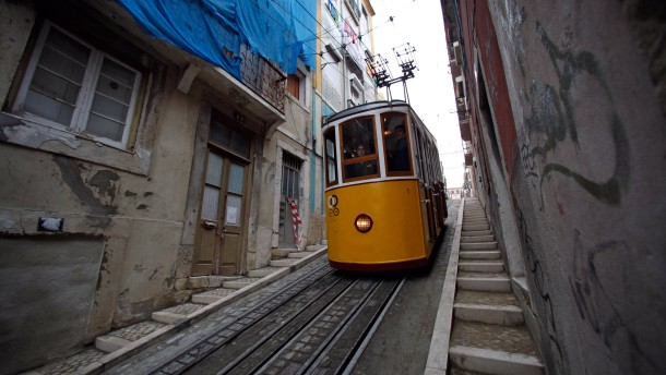 """Ascensor da Bica"" in Lissabon"