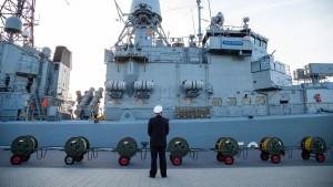 Die Deutsche Marine ist auf Grund gelaufen