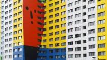 Kreativ bemalt: Das Gustavo-Hochhaus in Berlin.