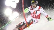 Marcel Hirscher aus Österreich in Aktion.