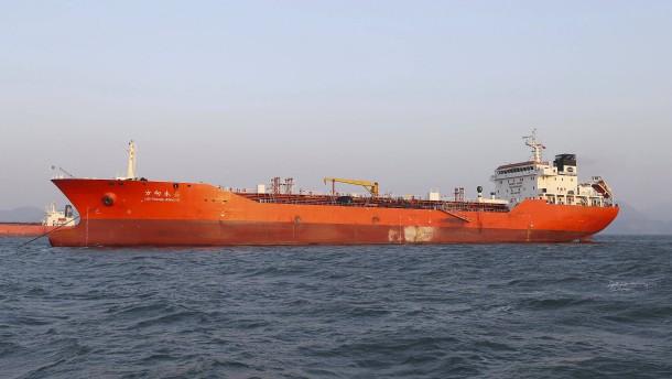 Brief Nach Nordkorea : Südkorea beschlagnahmt Öltanker koti lieferung nach