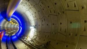Erste Tunnelröhre ins Europaviertel fertiggestellt