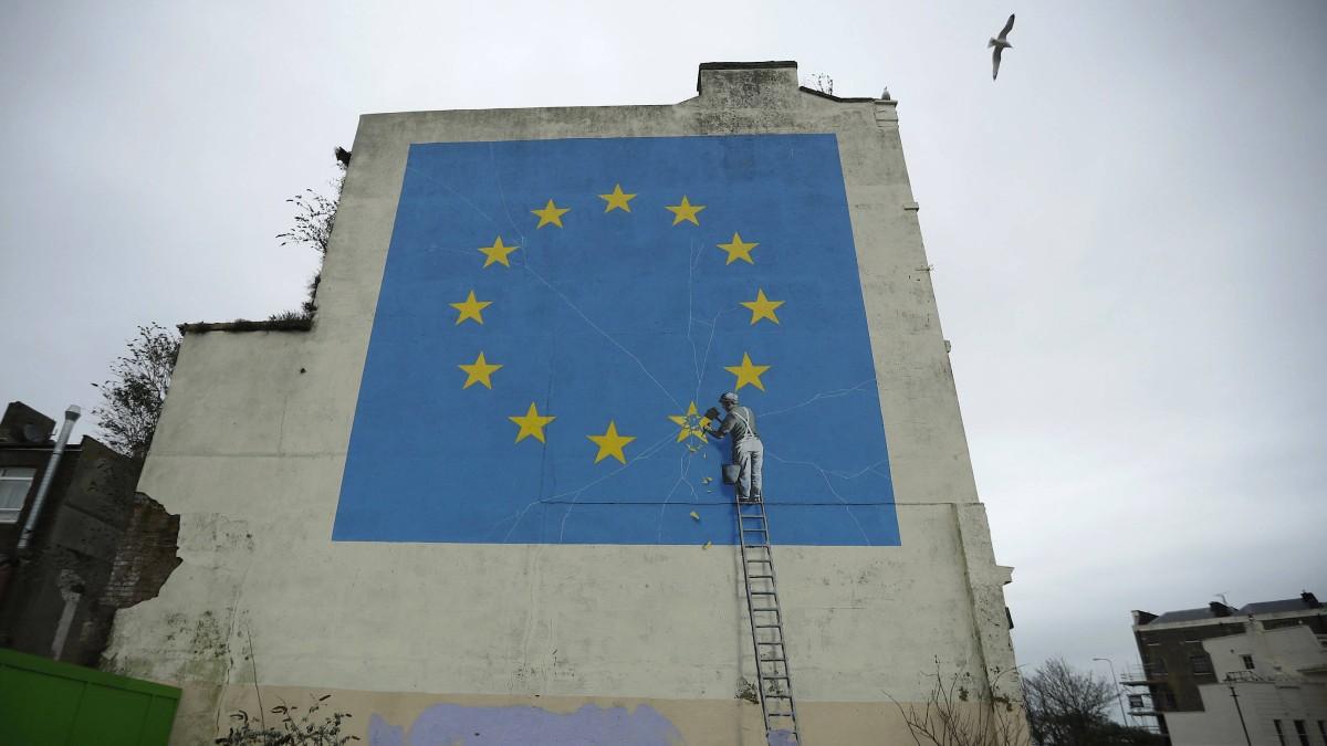 Banksys Brexit-Bild ist verschwunden