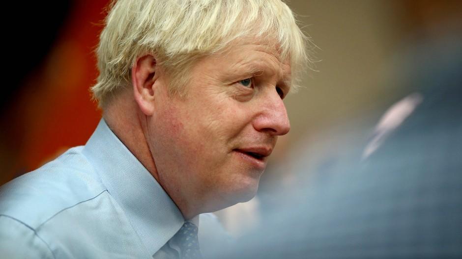 Boris Johnson am Mittwoch beim Besuch eines Krankenhauses in Leytonstone