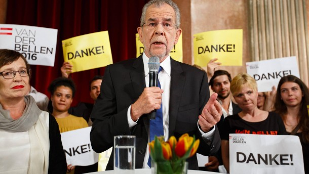 Van der Bellen gewinnt die Präsidentenwahl in Österreich