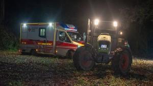 Schwerverletzter läuft nach Unfall davon – Brand in Mörfelden-Walldorf