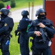 Beamte der Bereitschaftspolizei in Oppenau