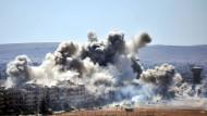 Rauch über Damaskus am Dienstag