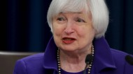 Janet Yellen, amerikanische Notenbank-Präsidentin, bei der Pressekonferenz zur Leitzinserhöhung am 16. Dezember.