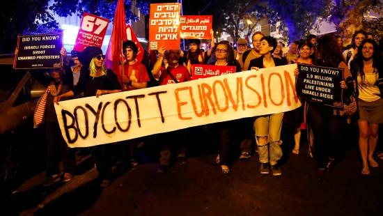 Demonstrationen gegen Eurovision Song Contest