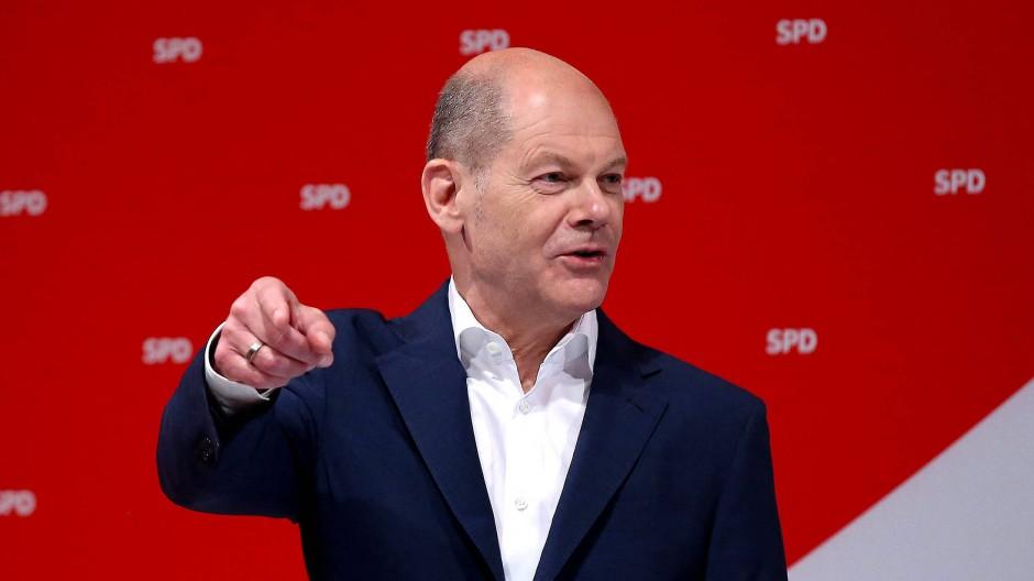 Im Angriffsmodus: SPD-Chef Olaf Scholz