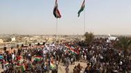 Für die Unabhängigkeit: Kurden in Kirkuk demonstrieren vor dem Referendum.