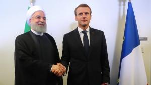 Macron ruft Rohani zu Treffen mit Trump in New York auf